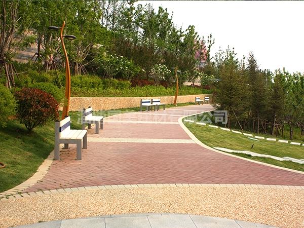 公园景观砖铺装